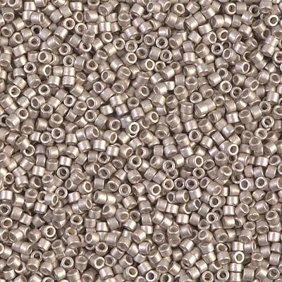 Miyuki Delica Seed Beads 11/0 DB1158 Galvanized SF Light Smoky Amethyst 7 6  grams